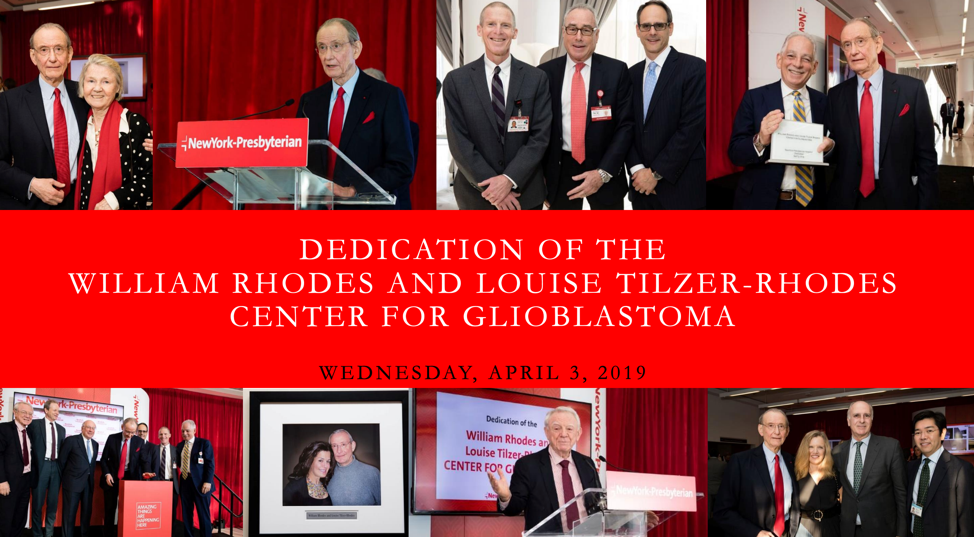 Opening of the William Rhodes & Louise Tilzer-Rhodes Center for Glioblastoma