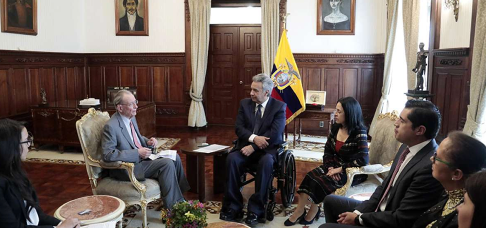 Ecuador welcomes international aid for Venezuelan refugees.